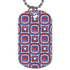 3d Squares 			dog Tag (one Side) by LalyLauraFLM