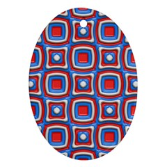 3d Squares ornament (oval) by LalyLauraFLM