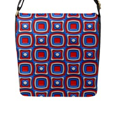 3d Squares 			flap Closure Messenger Bag (l) by LalyLauraFLM