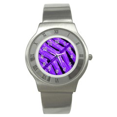 Purple Fern Stainless Steel Watches by timelessartoncanvas