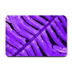 Purple Fern Small Doormat  by timelessartoncanvas
