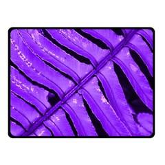 Purple Fern Fleece Blanket (small) by timelessartoncanvas