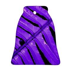 Purple Fern Ornament (Bell)  by timelessartoncanvas