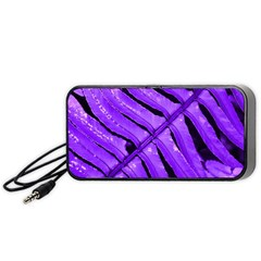 Purple Fern Portable Speaker (black)  by timelessartoncanvas