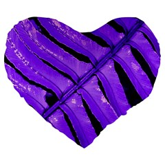 Purple Fern Large 19  Premium Heart Shape Cushions by timelessartoncanvas