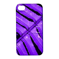 Purple Fern Apple Iphone 4/4s Hardshell Case With Stand by timelessartoncanvas