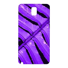 Purple Fern Samsung Galaxy Note 3 N9005 Hardshell Back Case by timelessartoncanvas