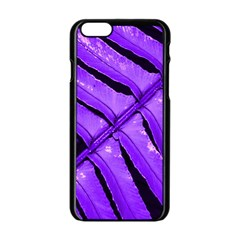 Purple Fern Apple Iphone 6/6s Black Enamel Case by timelessartoncanvas