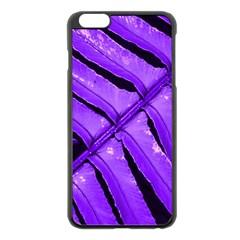 Purple Fern Apple Iphone 6 Plus/6s Plus Black Enamel Case by timelessartoncanvas
