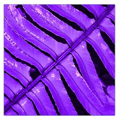 Purple Fern Large Satin Scarf (square) by timelessartoncanvas