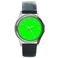 Cool Green Round Metal Watches by Costasonlineshop