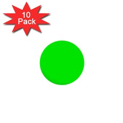 Cool Green 1  Mini Buttons (10 Pack)  by Costasonlineshop