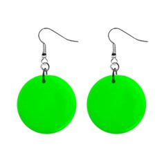 Cool Green Mini Button Earrings by Costasonlineshop
