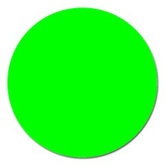 Cool Green Magnet 5  (round) by Costasonlineshop