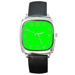 Cool Green Square Metal Watches by Costasonlineshop