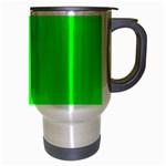 Cool Green Travel Mug (Silver Gray) Right