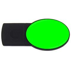 Cool Green Usb Flash Drive Oval (4 Gb)  by Costasonlineshop