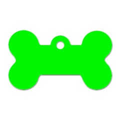 Cool Green Dog Tag Bone (Two Sides) by Costasonlineshop