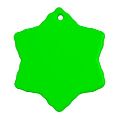 Cool Green Snowflake Ornament (2-Side) by Costasonlineshop