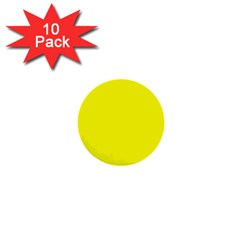 Beautiful Yellow 1  Mini Buttons (10 Pack)  by Costasonlineshop