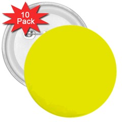 Beautiful Yellow 3  Buttons (10 Pack)