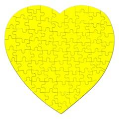 Beautiful Yellow Jigsaw Puzzle (heart) by Costasonlineshop