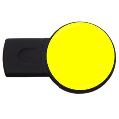 Beautiful Yellow Usb Flash Drive Round (4 Gb)  by Costasonlineshop