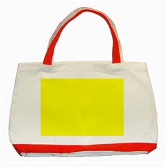 Beautiful Yellow Classic Tote Bag (red)  by Costasonlineshop