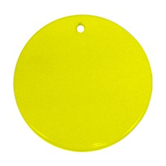 Beautiful Yellow Round Ornament (Two Sides)  by Costasonlineshop