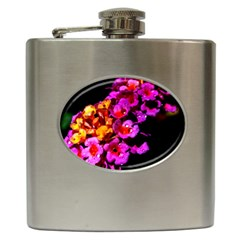 Lantanas Hip Flask (6 Oz) by timelessartoncanvas