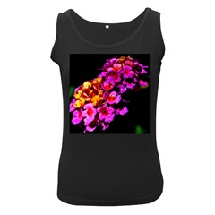 Lantanas Women s Black Tank Tops by timelessartoncanvas