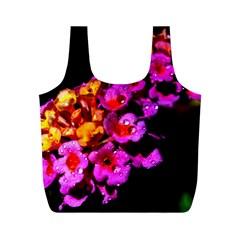 Lantanas Full Print Recycle Bags (m)  by timelessartoncanvas
