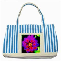 Dsc 0107222 Striped Blue Tote Bag  by timelessartoncanvas