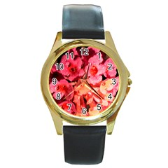 Dsc 0117666565 Round Gold Metal Watches by timelessartoncanvas