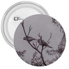 Couple Of Parrots In The Top Of A Tree 3  Buttons by dflcprints