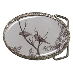 Couple Of Parrots In The Top Of A Tree Belt Buckles by dflcprints