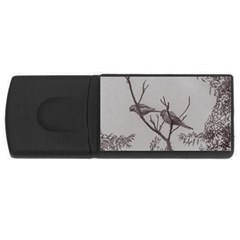 Couple Of Parrots In The Top Of A Tree Usb Flash Drive Rectangular (4 Gb)  by dflcprints