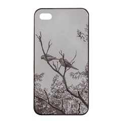 Couple Of Parrots In The Top Of A Tree Apple Iphone 4/4s Seamless Case (black) by dflcprints