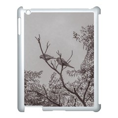 Couple Of Parrots In The Top Of A Tree Apple Ipad 3/4 Case (white) by dflcprints