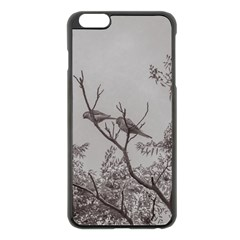 Couple Of Parrots In The Top Of A Tree Apple Iphone 6 Plus/6s Plus Black Enamel Case by dflcprints