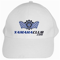 Yamaha Club White Baseball Cap by yamahaclub