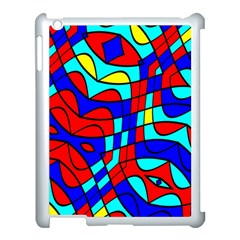 Colorful Bent Shapes			apple Ipad 3/4 Case (white) by LalyLauraFLM