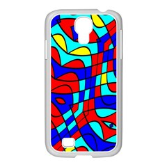 Colorful Bent Shapes			samsung Galaxy S4 I9500/ I9505 Case (white) by LalyLauraFLM