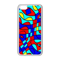 Colorful Bent Shapes			apple Iphone 5c Seamless Case (white) by LalyLauraFLM