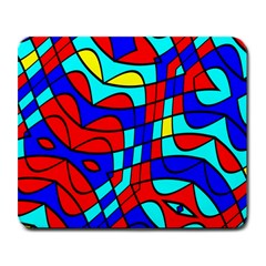 Colorful Bent Shapes large Mousepad by LalyLauraFLM