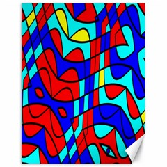 Colorful Bent Shapes 			canvas 18  X 24  by LalyLauraFLM