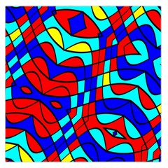 Colorful Bent Shapes Satin Scarf by LalyLauraFLM