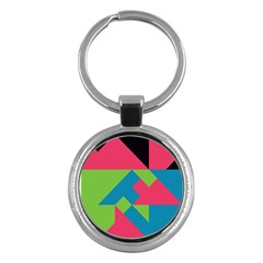Angles key Chain (round) by LalyLauraFLM