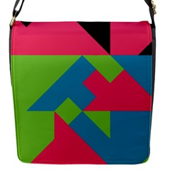 Angles 			flap Closure Messenger Bag (s) by LalyLauraFLM
