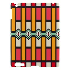 Rhombus And Stripes Pattern			apple Ipad 3/4 Hardshell Case